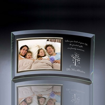 Family Tree Curved Glass Horizontal 10x8 Photo frame