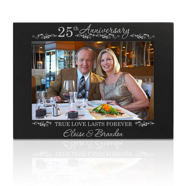 25th silver wedding anniversary picture frame - 25th Wedding Anniversary Gifts