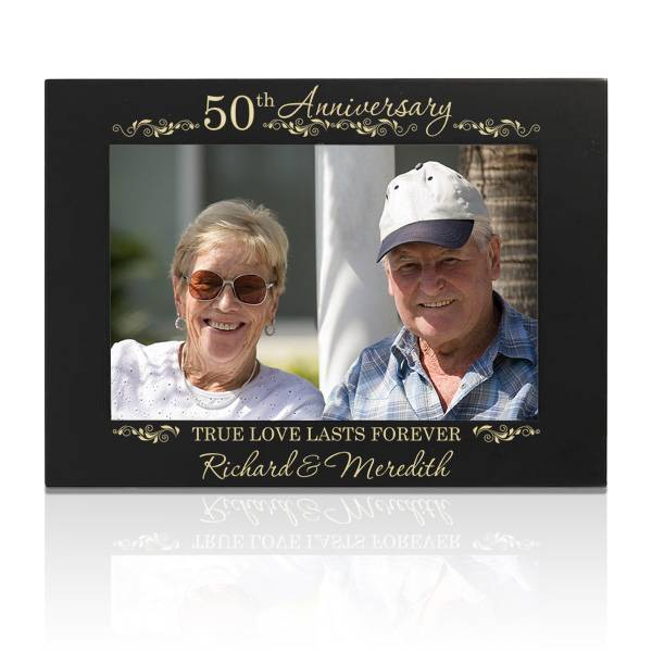 50th Gold Wedding Anniversary Picture Frame