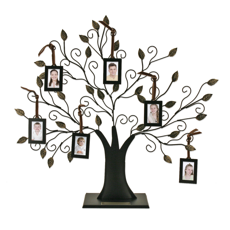 Wallverbs Family Tree Personalized Picture Frame Set: Family Tree With 6 Hanging Frames