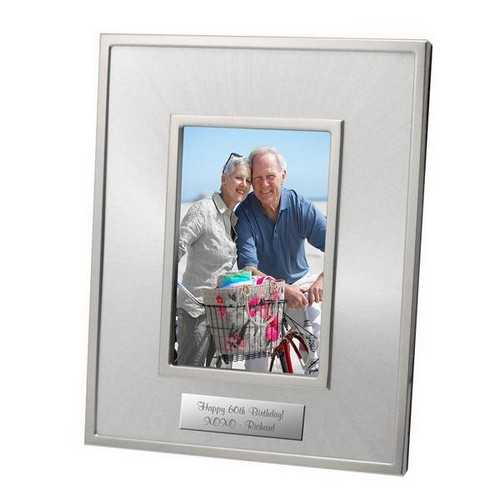 5x7 Starburst Personalized Silver Photo Frame