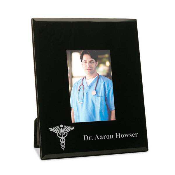 Personalized Doctor Frame with Medical Doctor Symbol