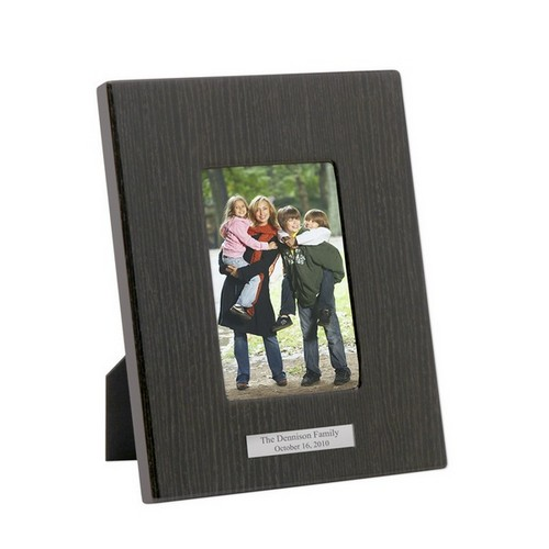 4 x 6 Black Wood Piano Finish Picture frame