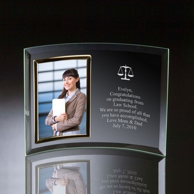 Lawyers Curved Glass Vertical 4x6 Photo frame