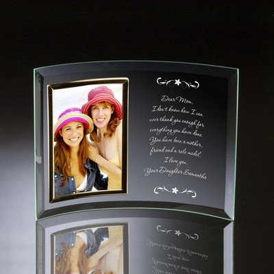 Letter to Mom 4x6 Curved Glass Photo Frame