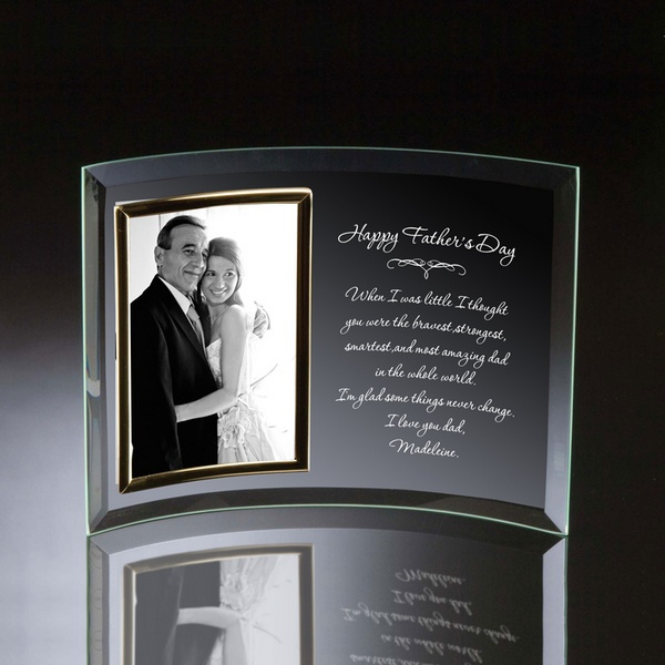 4x6 Fathers Day Curved Glass Personalized Photo Frame