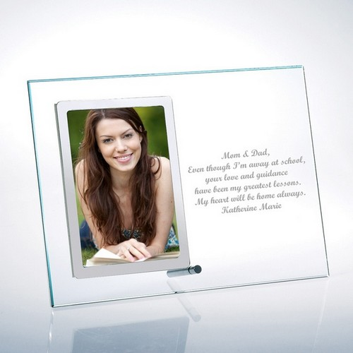 Glass Vertical 4x6 Photo Frame