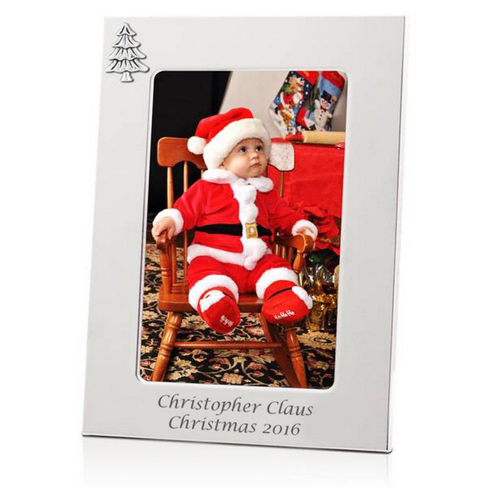 Elegant Silver Christmas Frame