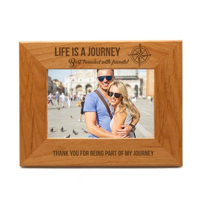 "Life is a Journey Wooden 5""X7"" Photo Frame"