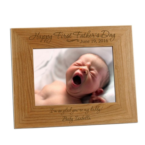 5x7 First Fathers Day Personalized Frame