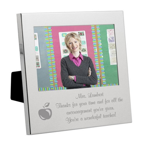 Silver  Apple Message From the Heart Teacher Frame