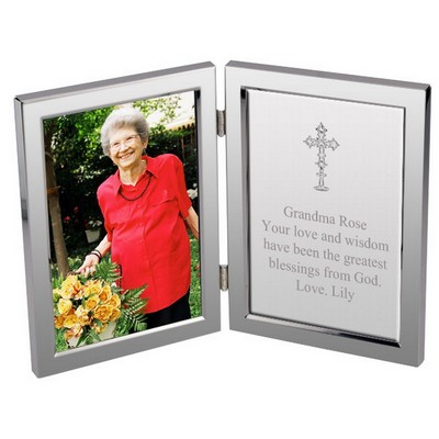 Silver Cross Message Personalized Frame