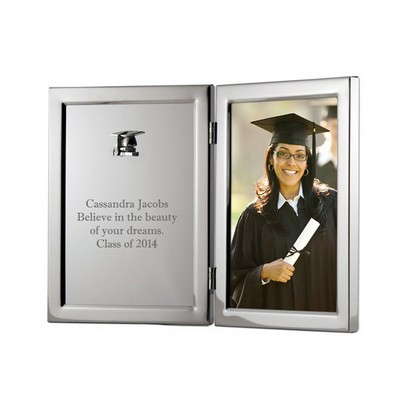Silver Graduation Frame with Plaque