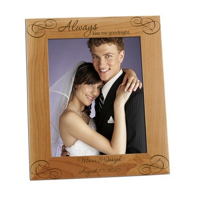 Always Kiss me Goodnight 8x10 Photo Frame