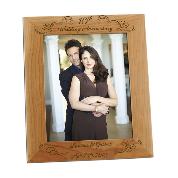 10th year wedding anniversary 8x10 photo frame
