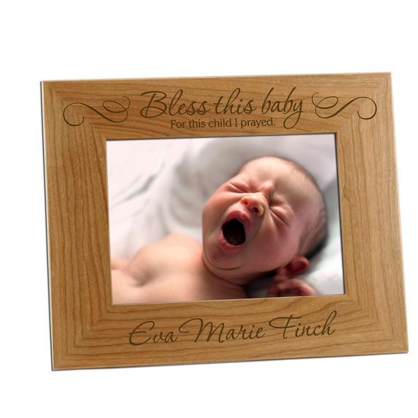 For This Child I Prayed Baby 5x7 Photo Frame