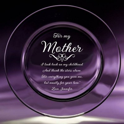 Mother Crystal Keepsake Plate