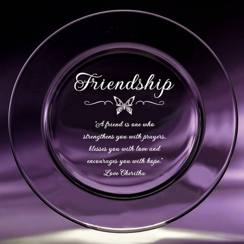 Best Friend Crystal Keepsake Plate