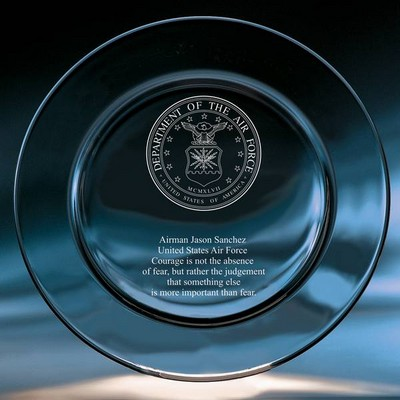 Air Force Crystal Keepsake Plate
