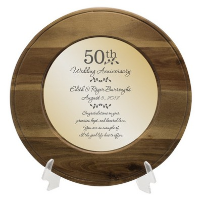 50th Anniversary Personalized Wooden Plate