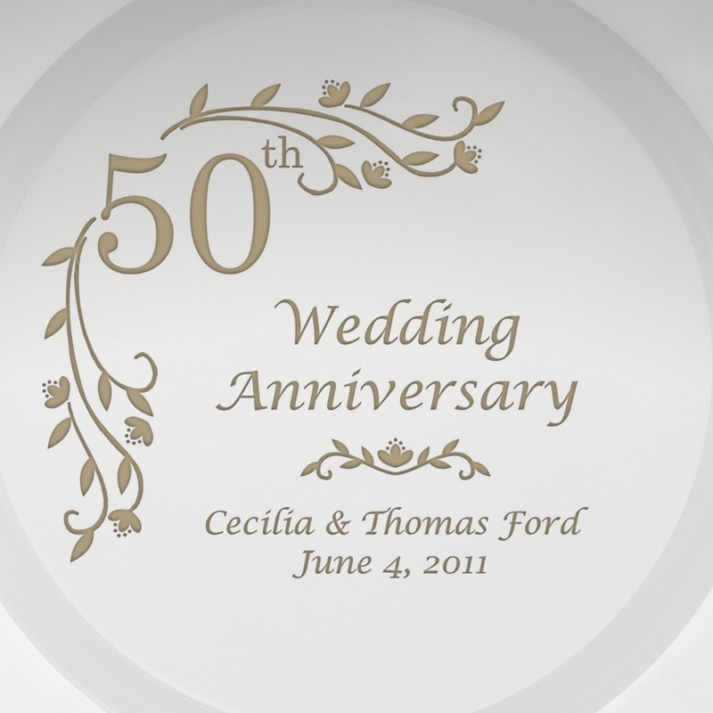 Personalised 50th Wedding Anniversary Gift : Personalized Gifts and Engraved Gift Ideas for all Occasions!