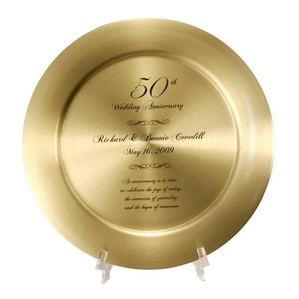 Golden Wedding Anniversary Gift Ideas: Impressive Personalized 50th Anniversary Solid Brass