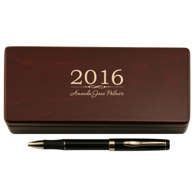 Graduating Class Pen in Personalized Wooden Case Set