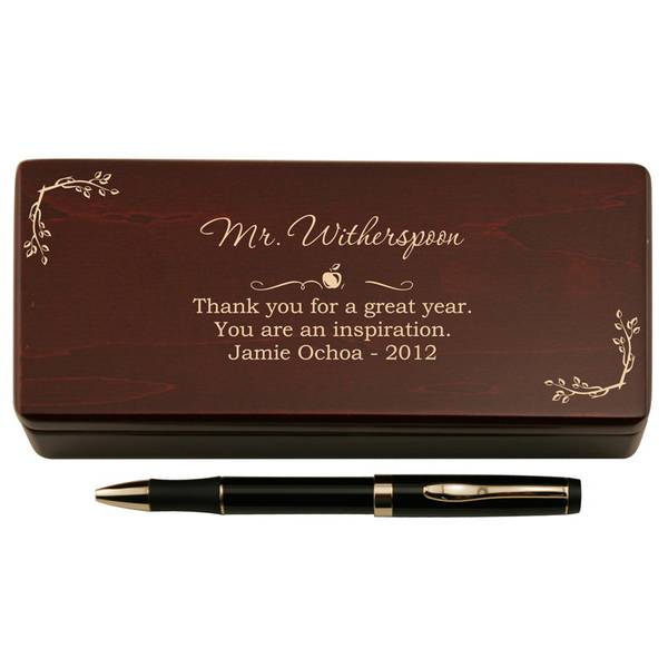 pen for teacher in personalized wooden case