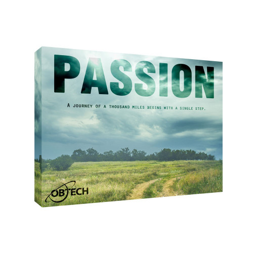 Passion 11x14 Personalized Inspirational Wall Canvas