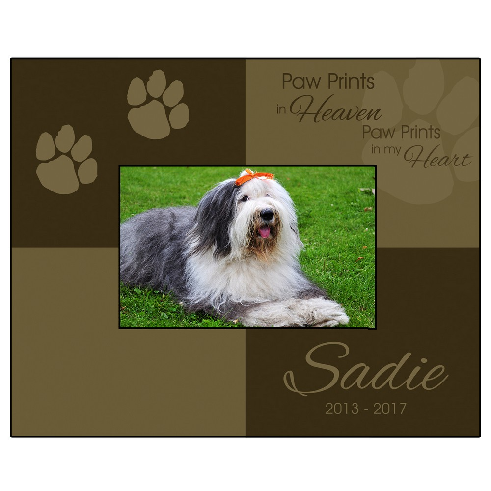 Paw prints 4x6 picture frame personalized paw prints 4x6 picture frame jeuxipadfo Images