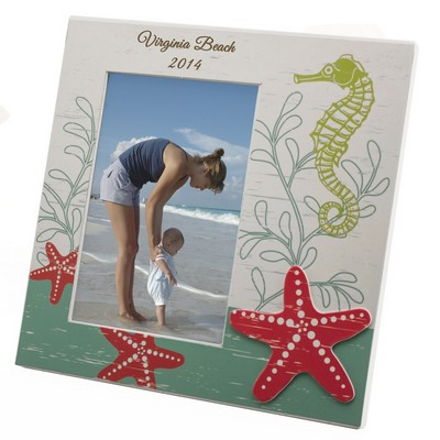 Personalized 4x6 Coastal Starfish Frame