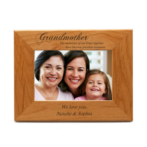 Personalized 4x6 Wood Picture Frame for Grandmother