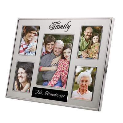 Personalized 5 Photo Family Picture Frame