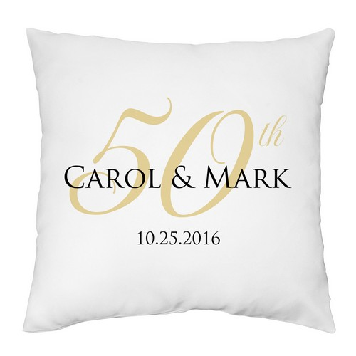 Personalized 50th Anniversary Decorative Pillow Case