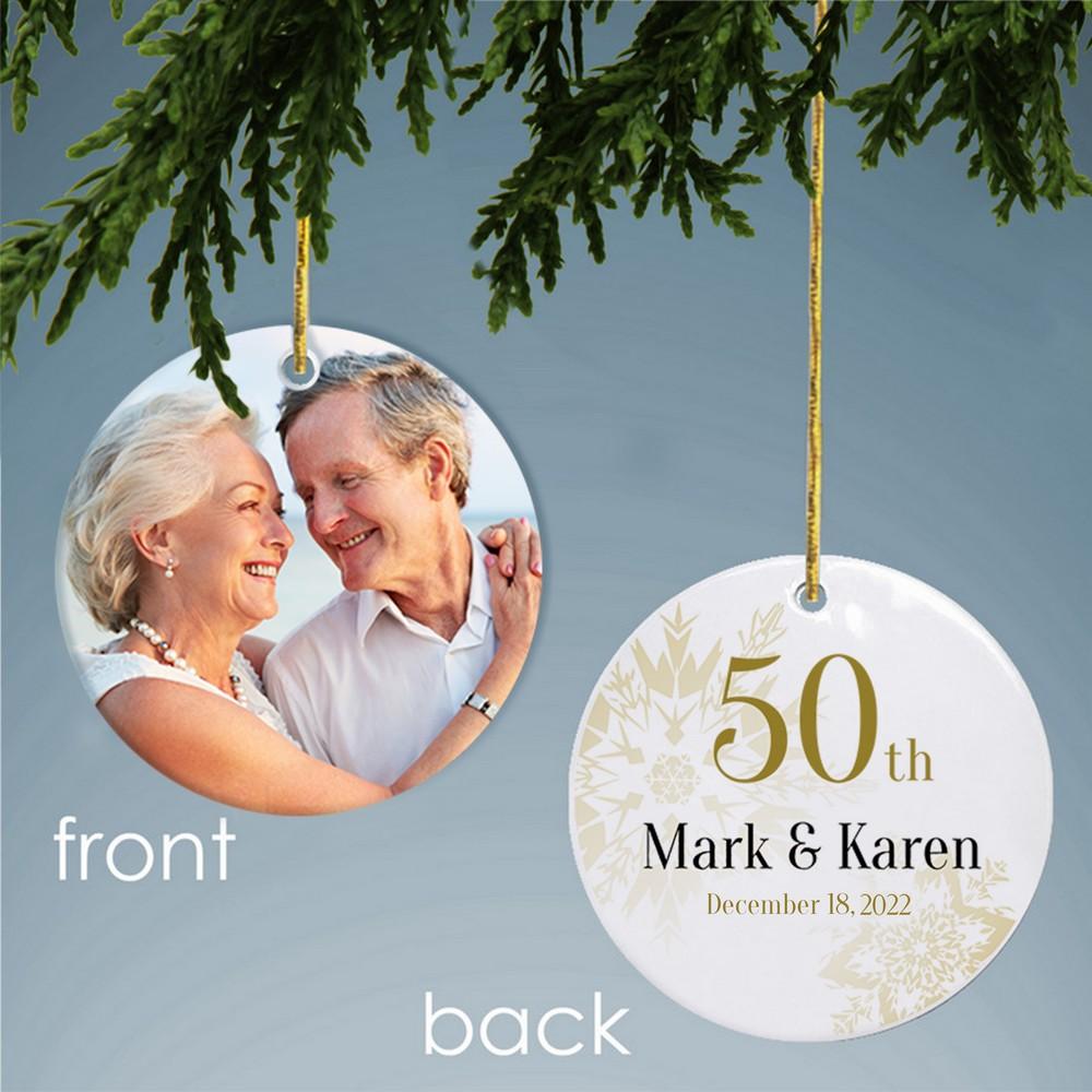 50th Wedding Anniversary Christmas Ornaments