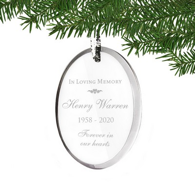 Personalized Acrylic Memorial Loving Memory Oval Ornament