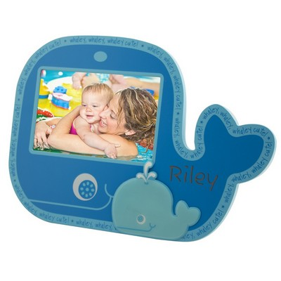 Personalized Baby Whale Wooden Photo Frame
