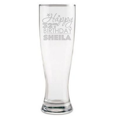 Personalized Birthday Beer Glass