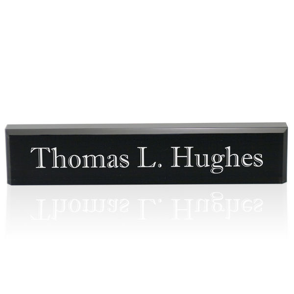 Well known Personalized Black Acrylic Desk Name Plate YZ26