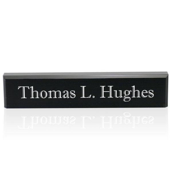 Black Acrylic Desk Name Plate