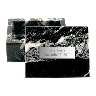 Personalized Black Marble Jewelry Box