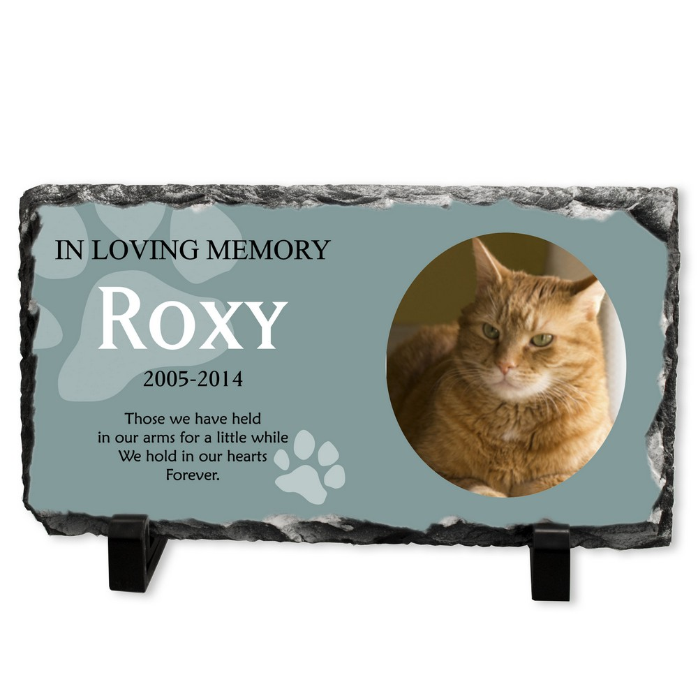 Pet memorial christmas ornaments - Personalized Cat Memorial Stone Plaque