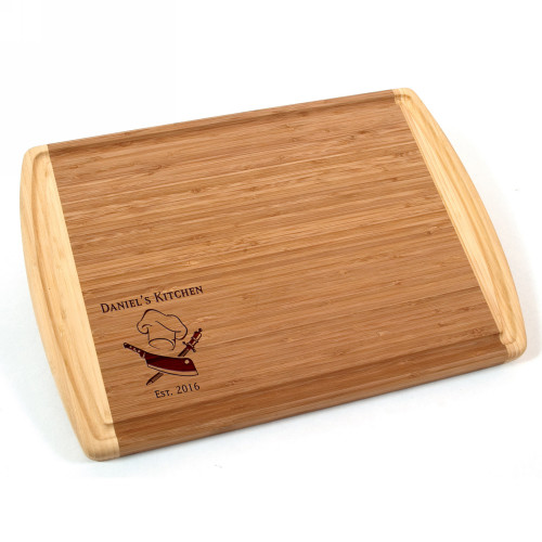 Personalized Chefs Bamboo Cutting Board