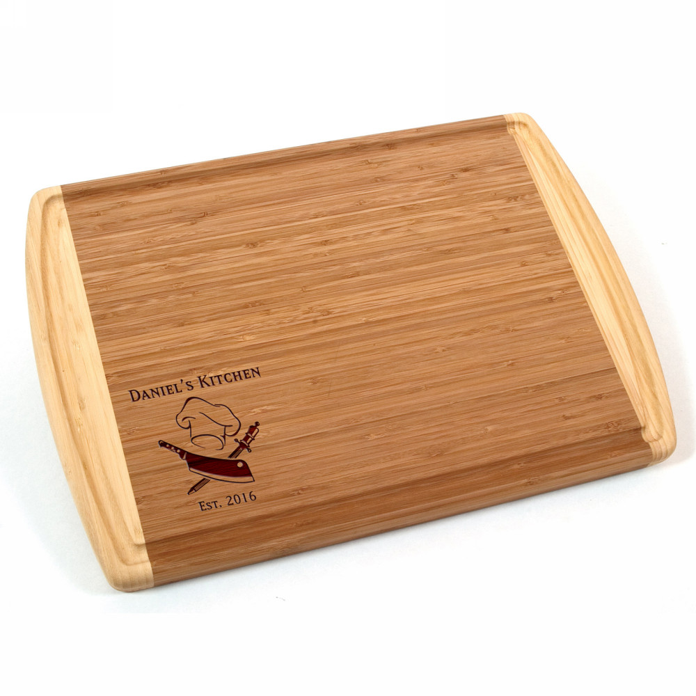 Personalized Cutting Boards ~ Personalized chefs bamboo cutting board