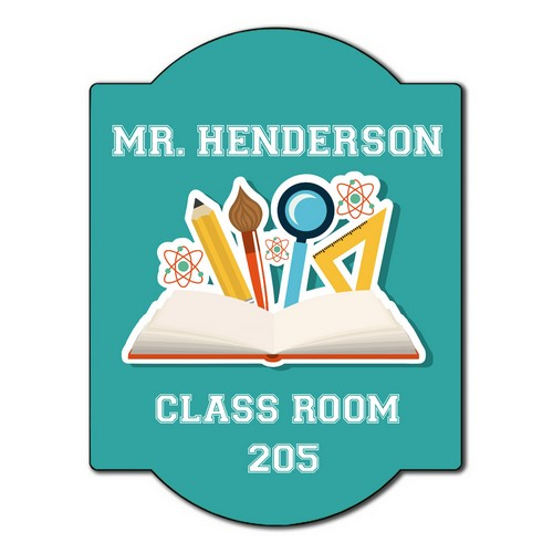 Personalized Classroom Wall Sign for Teachers