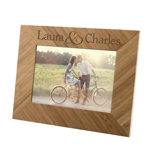 Personalized Couples Customized Bamboo 5x7 Picture Frame