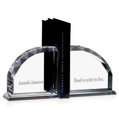 Personalized Crystal Bookends