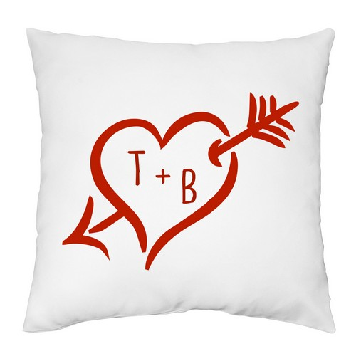 Personalized Cupids Arrow Pillow Case