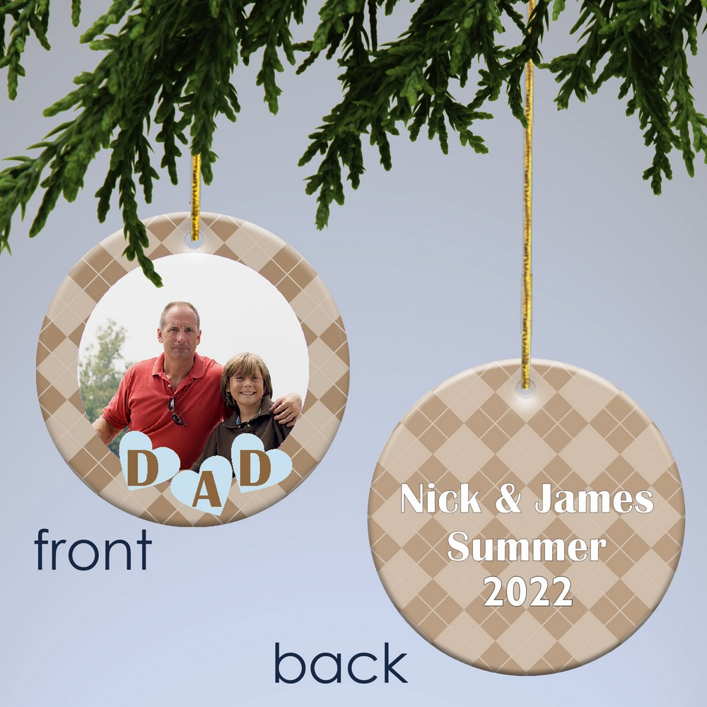 Dad christmas ornament - Personalized Photo Christmas Ornament For Dad