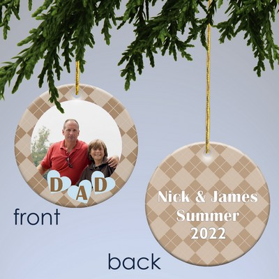 Personalized Photo Christmas Ornament for Dad
